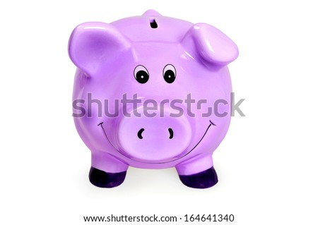 Isolated piggybank on white background