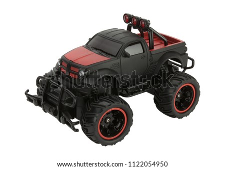 isolated plastic toy car #1122054950