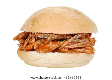 Isolated Pulled Pork Sandwich Stock Photo 61662559 ...