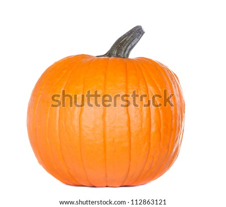Isolated pumpkin on white