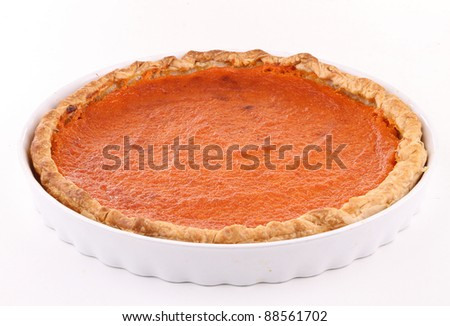 isolated pumpkin pie