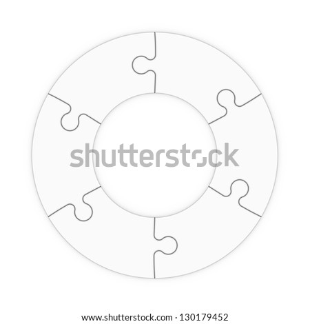 isolated puzzle pieces to place concepts with clipping path