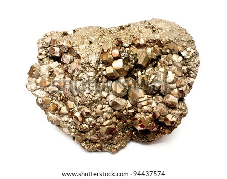 Isolated pyrite mineral (fool's gold)