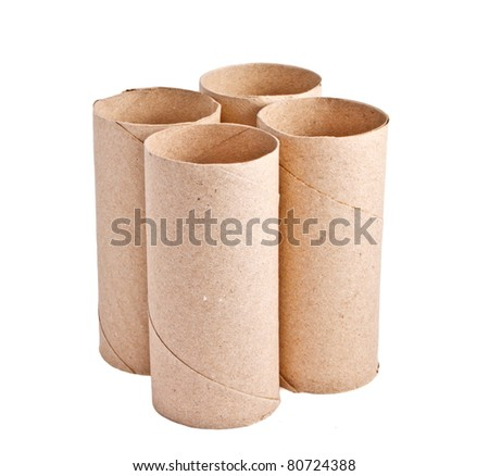 Isolated recycle paper rolls