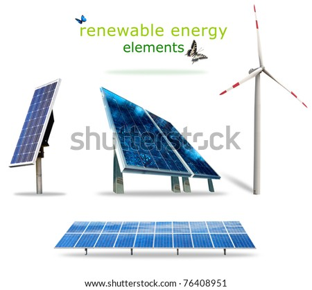 Isolated renewable energy elements for your prints
