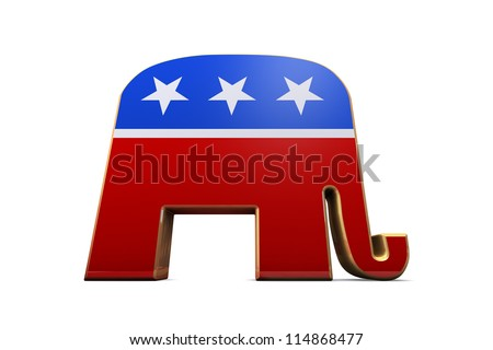 Isolated Republican Party Symbol