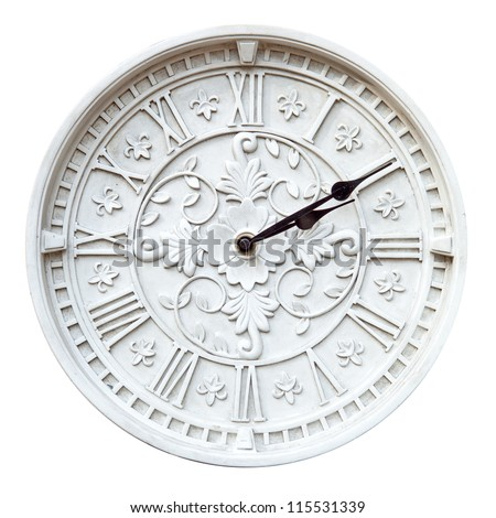 Isolated retro wall clock