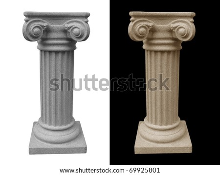 Isolated Roman Pillar on white background