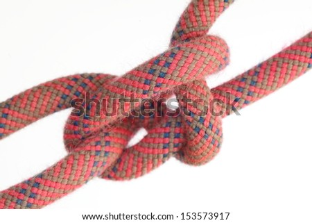 isolated rope knot for climbing and sailing
