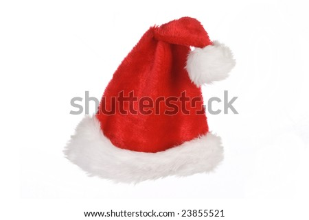 Isolated santa hat on a white background.