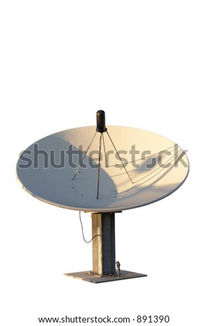 Isolated satellite dish