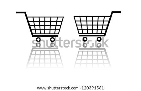 Isolated shopping basket.