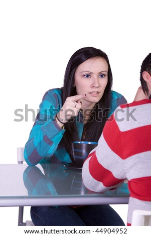 Isolated shot of a Couple Fighting on their Date