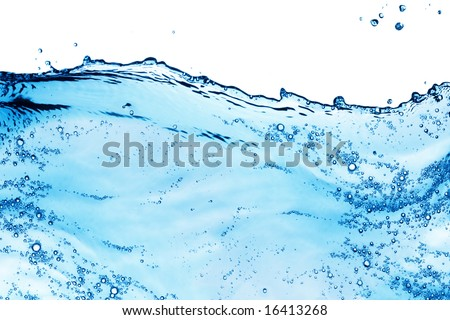 Isolated shot of water splashing