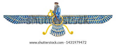 isolated sign of Zoroastrianism or Mazdayasna, is one of the world's oldest religions that remains active