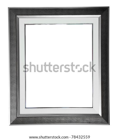 isolated silver modern frame on white