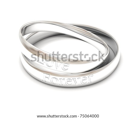 stock photo isolated silver wedding rings