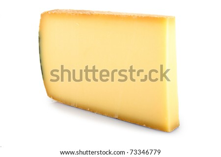 isolated slice of cheese