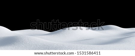 Isolated snow hills landscape. Winter snowdrift background