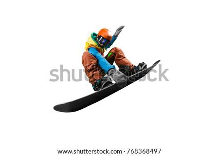 Isolated Snowboarding Photo Stock fotó ©