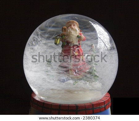 Isolated snowglobe