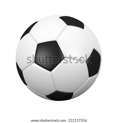 isolated soccer ball with clipping path.