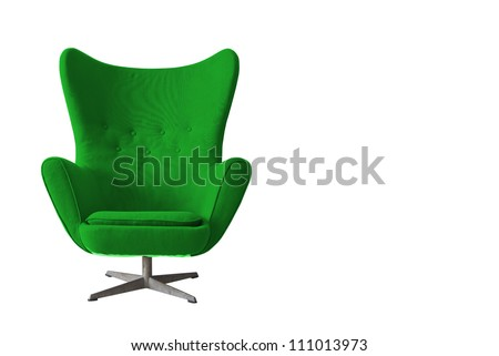Isolated Soft green Stylish Chair