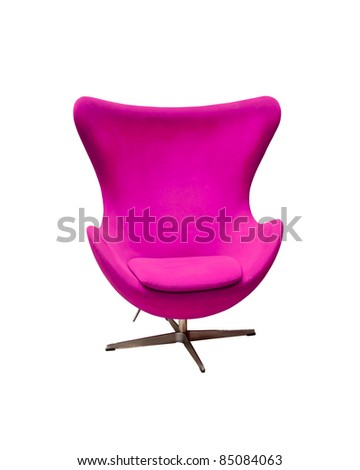 Isolated Soft Purple Stylish Chair