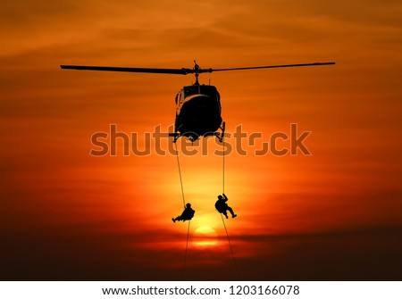 Isolated soldiers rescue helicopter operations.
