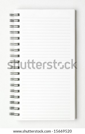 isolated spiral notepad