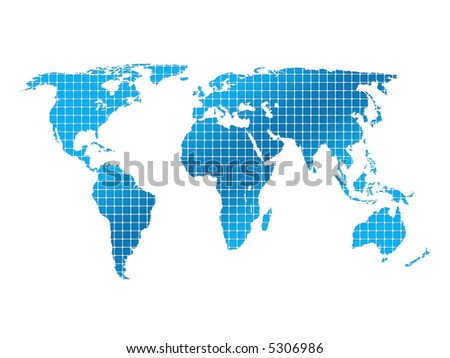isolated square world map