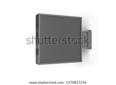 Isolated squared store sign mockup on white background 3D rendering