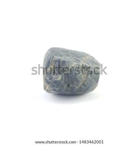 Isolated stone on white background macro single object #1483462001