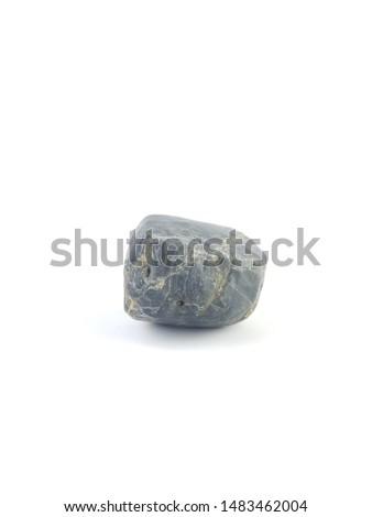 Isolated stone on white background macro single object #1483462004