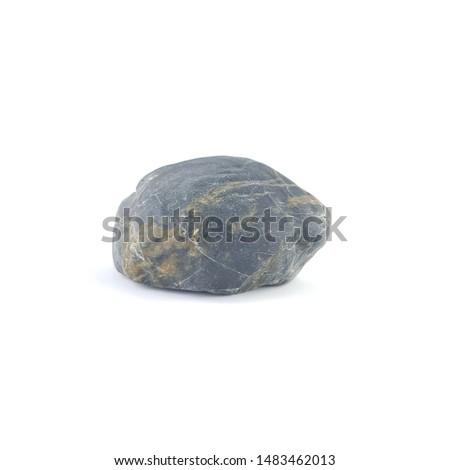 Isolated stone on white background macro single object #1483462013