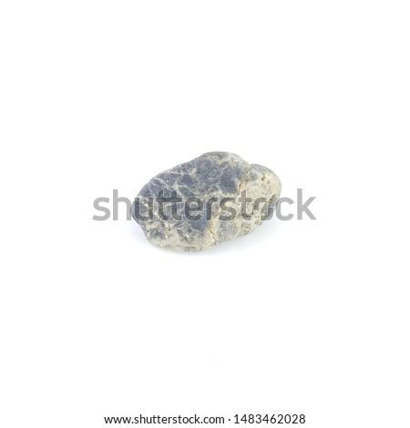 Isolated stone on white background macro single object #1483462028