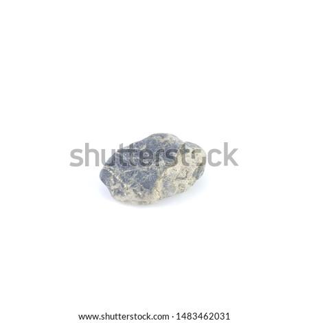Isolated stone on white background macro single object #1483462031
