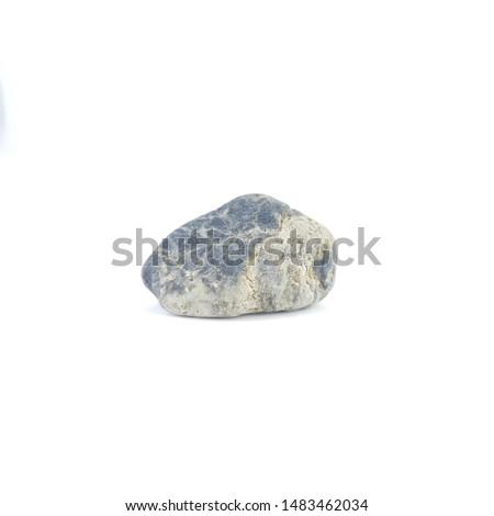 Isolated stone on white background macro single object #1483462034