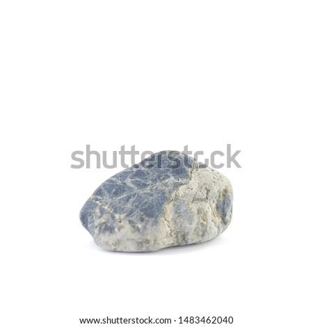 Isolated stone on white background macro single object #1483462040