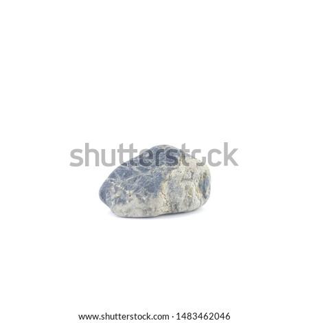 Isolated stone on white background macro single object #1483462046