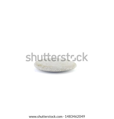 Isolated stone on white background macro single object #1483462049