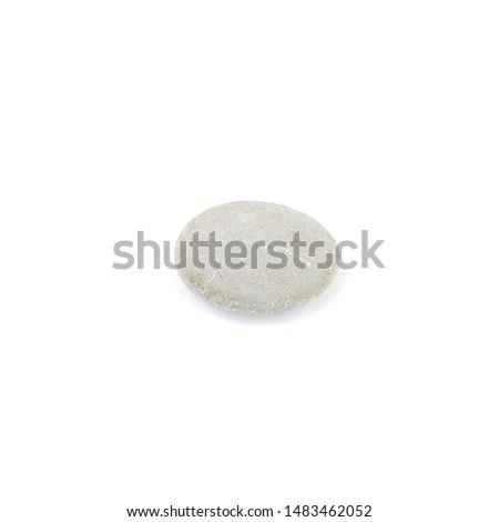Isolated stone on white background macro single object #1483462052