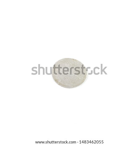 Isolated stone on white background macro single object #1483462055