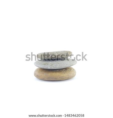 Isolated stone on white background macro single object #1483462058