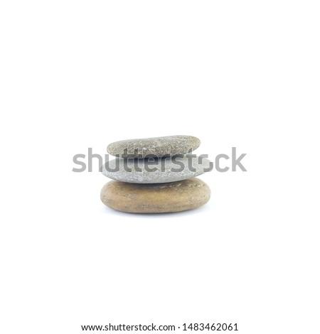 Isolated stone on white background macro single object #1483462061