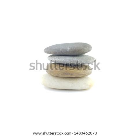 Isolated stone on white background macro single object #1483462073