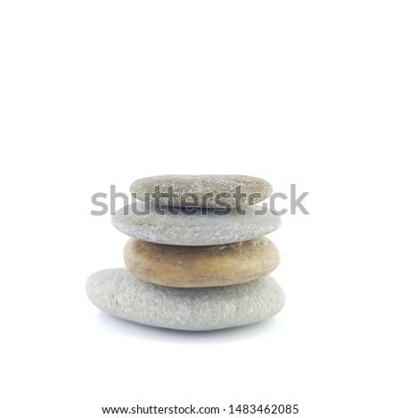 Isolated stone on white background macro single object #1483462085