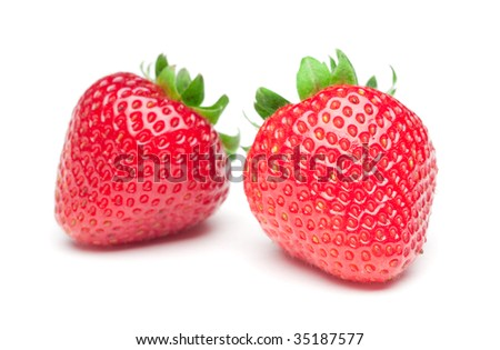 Isolated strawberrys