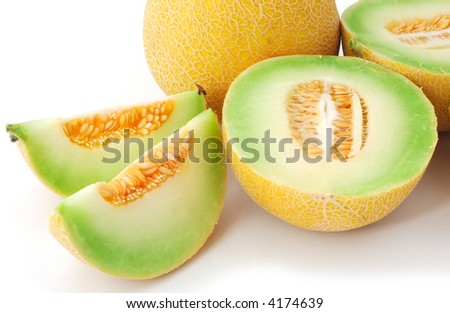 isolated sweet melons - stock photo