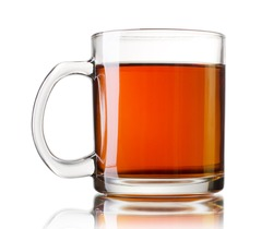 Isolated tea cup on a white background